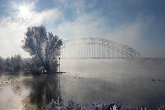 Misty Bridge (Edwin van Nuil Photography) Tags: bridge winter snow ice photowalk zwolle winterwonderland geocity exif:iso_speed=100 exif:focal_length=24mm exif:make=sony camera:make=sony geostate geocountrys exif:aperture=80 nex7 sonynex7 zeisssonnarte24mmf18za camera:model=nex7 exif:model=nex7 exif:lens=e24mmf18za