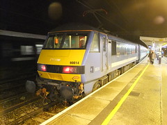 90014 Colchester 18th February 2012 (Cooperail) Tags: uk england station electric train one suffol