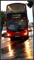 Arriva DW54 on route 264.  25/08/10 (Ledlon89) Tags: bus london rain eclipse transport gemini londonbus daf tfl mitcham arriva wrightbus alltypesoftransport
