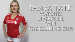 VIDEO: Tanya Tate Watches Liverpool Football Club Win The Carling Cup! (TanyaTate) Tags: liverpool football video pub soccer cardiff vlog appearance lfc liverpoolfootballclub liverpudlian scouse yeoldekingshead viewingparty sexygeekgirl tanyatate carlingcupfinals