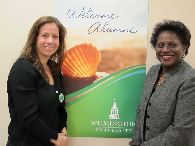 Stefanie Whitby, Senior Director Institutional Advancement and Gloria Johnson, Director of Alumni Relations, welcomed guests.