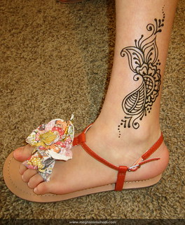 Cute shoes (and henna)!