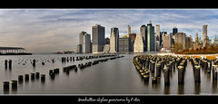 Manhattan skyline panorama (pDOTeter) Tags: