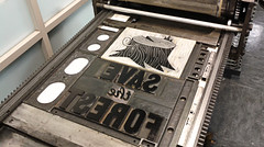 Save the forest (Iain Burke) Tags: tree illustration forest paper print typography design graphicdesign kill graphic ghost gothic printing stump printmaking iain letterpress burke bold vandercook savetheforest killthehumans killthehumanssavetheforest 2012linocut