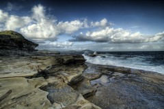 terrigal #3 (-hedgey-) Tags: ocean seascape clouds rocks centralcoast topaz terrigal rockshelf
