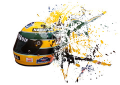 Senna Helmet (tophatcentral) Tags: black green yellow photoshop track graphic helmet f1 formula1 senna edit racingcar