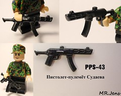 PPS-43 Submachine Gun Brickarms WWII LEGO (MR. Jens) Tags: world red two english army war lego union wwii soviet ww2 russian 43 pps submachinegun brickarms    pistoletpulemjot sudaeva sudaevs