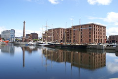 Albert Dock (clive117) Tags: chimney sky water liverpool buildings boats dock albert mast