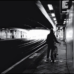 12/52 (skidu) Tags: street new bw white black station silhouette train square format 2012 week12 522012 52weeksthe2012edition weekofmarch18
