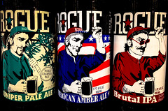 Rogue Ales - Juniper Pale Ale, American Amber Ale and Brutal IPA (India Pale Ale) - Newport Oregon (mbell1975) Tags: india beer oregon amber ale pale american newport bier ipa rogue juniper brutal roguejuniperpaleale