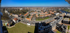 Haarlem Cityscape from Mariastichting tower, Haarlem (pouhou) Tags: panorama tower haarlem netherlands skyline europe cityscape toren thenetherlands panoramic noordholland northholland mariastichting