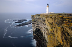 Noup Head Lighthouse (long exposure), Westray, Orkney (iancowe) Tags: ocean sea cliff lighthouse rock wall island islands scotland orkney long exposure head scottish cliffs atlantic clifftop northernlighthouseboard nlb westray noup pierowall lighthousetrek wbnawgbsct