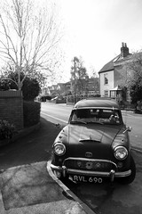 Classic Car (scalespeeder) Tags: blackandwhite classic car digital canon eos 350d rebel xt gosport