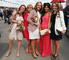 Racegoers - Fashion during Liverpool Day at the John Smith's Grand National Festival at the Aintree Racecourse Liverpool, England