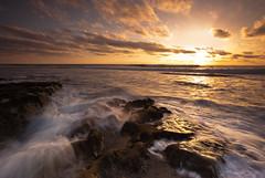 cascade (Andy Kennelly) Tags: ocean california light sunset wild sun motion beach wet water coast la sand san rocks long exposure pacific diego cascade jolla