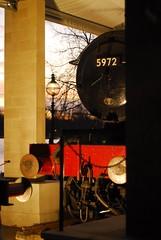 "5972 ""Olton Hall"" on display at Winter Wonderland, Hyde Park (Forest Pines) Tags: christmas railroad london heritage train hall market engine railway loco fair christmasmarket steam locomotive hydepark preserved christmasfair steamengine preservation winterwonderland steamtrain gwr 460 greatwesternrailway steamloco 5972 oltonhall hallclass charlescollett"