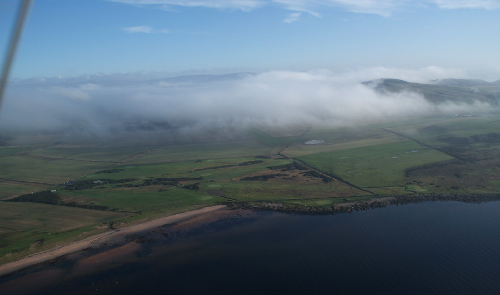 Back to Bute for another look - one end of the runway now clear of fog - sort of - but that's enough for us!