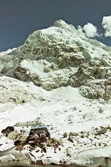 Everest base camp's no fly zone, Nepal (Miche & Jon Rousell) Tags: nepal snow mountains ice trekking rocks day cloudy crash glacier clear helicopter himalaya everest basecamp chola sagarmatha gorakshep pumori khumbuglacier kalapatthar cholapass sagarmathanationalpark lobouche eightthousandmetrepeaks