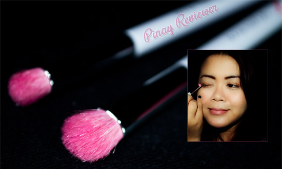 The Proudly Pink eye shadow and crease brushes