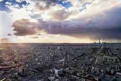Paris (Luca Romano) Tags: city light panorama storm paris landscape nuvole vista luce parigi