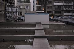 supervision (mahohn) Tags: reflection water concrete construction wasser hamburg 32 fujix10