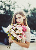 Bambi (Amanda Mabel) Tags: flowers sunset portrait sun model bokeh innocence bouquet peonies amandamabel breefry