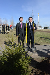 Tree Planting Ceremony (Asian Development Bank) Tags: trees plants corporate heads leaders administration kazakhstan treeplanting ceremonies governors governance executives annualmeeting takehikonakao adbpresident erbolatdossaev
