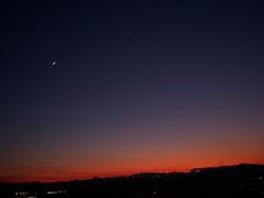 Anoitecer ( Sofia ) Tags: pordosol sun moon sol nature landscape natureza paisagem lua anoitecer tomar