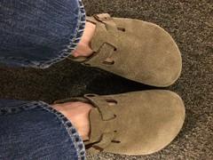 Look, I got new Birks. (scrnnmna) Tags: cute boston shoes clogs birkenstock