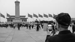 (Anwen2010) Tags: china street bw monochrome fuji beijing mao tiananmensquare tiananmen maozedong xe2