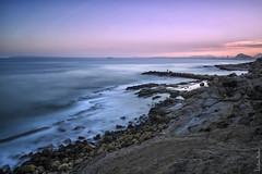 Las estructuras del cabo - Cape's structures (jmpastorg) Tags: sea espaa landscape mar spain mediterraneo paisaje led alicante 1855 2016 largaexposicin longeexposure d5100