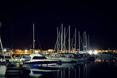Puerto. Punta del Moral (Huelva) (Angela Garcia C) Tags: turismo urbano infraestructura veleros nocturna vegetacin puntadelmoral hidrologa puerto huelva geografaurbana