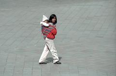 Peru : Cuzco #13 (foto_morgana) Tags: people peru southamerica cuzco outdoor nikoncoolscan analogphotography nativeindian analogefotografie vuescan motherwithchild travelexperience photographieanalogue