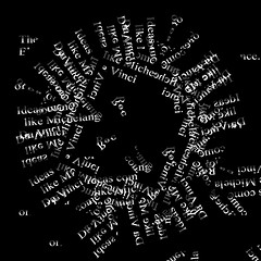 Ideas Come and Go (Like Da Vinci, Michelangelo) (crescentsi) Tags: art design poetry experimental postmodern contemporaryart text davinci medieval michelangelo vanguard avantgarde poetics textart prerenaissance