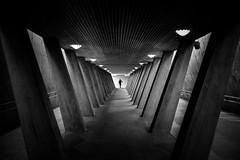 The Second End (Martin Fagers) Tags: oslo sinsen subway leadinglines lines minimalistic minimal monochrome leica m240 summilux summilux35mmf14asphfle