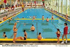 Butlins Bognor Regis - Indoor Pool (trainsandstuff) Tags: butlins bognorregis holidaycamp postcard vintage swimming johnhinde retro old history archival holidaycentre swimmingpool pool