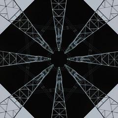 Geometric XXXIII (Blueprint) (Ursa Davis) Tags: blue arizona usa abstract west geometric lines america print photography photo power transformer united angles kaleidoscope blueprint states davis ursa linear kaleidoscopic
