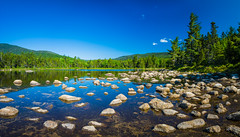 Pond by Kancamagus Highway (Gabriel Mirasol) Tags: summer panorama sunlight tree nature water daylight pond nikon stitch natural wide tokina 1116 d7100 1116mm