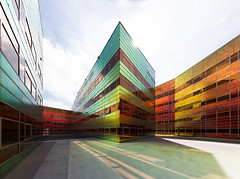 a colourful, well-lighted place [2] (yushimoto_02 [christian]) Tags: building netherlands architecture buildings ladefense almere unstudiooffice