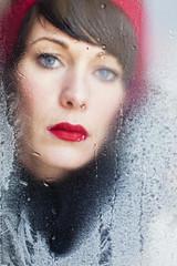 princess of ice (Antje Kroeger) Tags: winter red woman rot mood frau blick eisblumen lippen