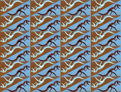 Dino-Tri (mazzmn) Tags: blue brown abstract psp triangle pattern dino graphic dinosaur repetition bones trippy escher tessellation pp hss slidersunday