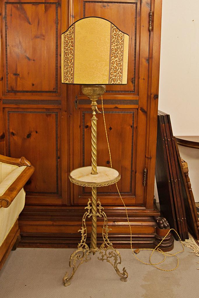 Exceptional Lampada Eclettica In Ottone (casaviva Antiquariato) Tags: Firenze Siena  Toscana Antiquariato Francia Antico