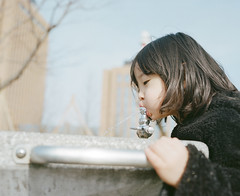 looking for an oasis #1 (Toyokazu) Tags: portrait water girl child oasis photogenic pentax67