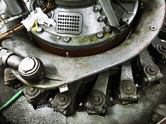 Turbine shaft (detail) (StefoF) Tags: energy hydro powerstation energia hydroelectric valtellina centraleelettrica a2a idroelettrica lovero