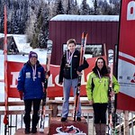 Red Mountain Miele Cup GS J1 Podium MCINTYRE Jenna - 1st J1;  FIELD Charley - 2nd J1;  STEEVES Kelly - 3rd J1 PHOTO CREDIT: Gregor Druzins