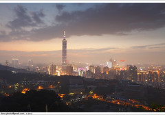 Taipei dusk in dust 2012  (*dans) Tags: tree dusk taiwan 101 taipei taipei101 dust     gianttree 101