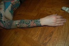 Clem wing - right (Nurse Kitty Qat) Tags: arm sleeve clem tattooed
