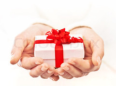 Hands holding beautiful gift box (arswino) Tags: birthday santa christmas new xmas winter red people woman white holiday macro girl closeup female shopping festive season fun happy person holding hands dof hand close box body background object year decoration wrap valentine give part gift giving bow present ribbon shallow concept merry package celebrate greeting christmastime carrying selective