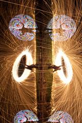 72/366 - Fire & Light Mask 247 - Woolie Nostrils! (tackyshack) Tags: light lightpainting reflection painting pond mask led lp paintingwithlight dlw lightpainter leapyear lightphotography project366 lightjunkie tackyshack woolspin tackymask digitallightwand ©jeremyjackson