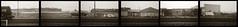 Along the tracks, Berkeley (efo) Tags: railroad bw panorama train berkeley tracks freight multiframe incamera olympus35rc hexaptych